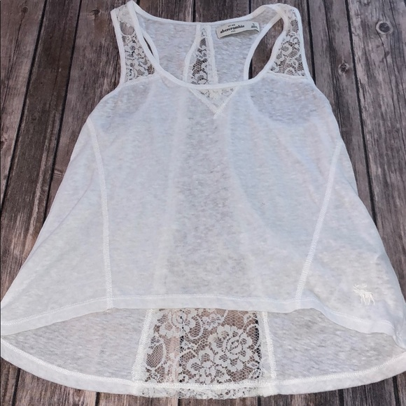 White Lace Tank Girls